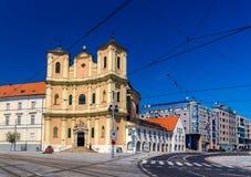 三位一体教会在布拉索夫老镇 免版税图库摄影
