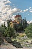 三位一体教会在雅典,希腊 库存照片