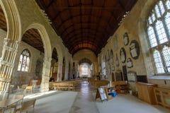 三位一体教会教堂中殿 库存图片