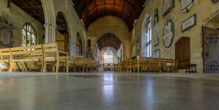 三位一体教会教堂中殿A 免版税库存照片