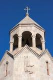三位一体教会钟楼在耶烈万 免版税库存图片