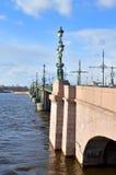 三位一体桥梁和涅瓦河 免版税库存图片