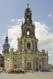 三位一体的大教堂,德累斯顿,德国 库存图片
