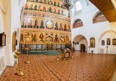 三位一体的寺庙的内部 教会在174建立了 免版税库存照片
