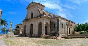 三位一体的教会在特立尼达,古巴 免版税库存照片
