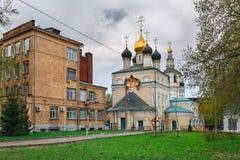 三位一体的教会在Kozhevniki 莫斯科俄国 库存图片