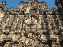 三位一体的教会,历史中心zocalo 免版税库存图片
