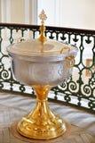 三位一体的教堂的字体在Gatchina宫殿 免版税库存照片