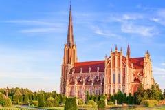 三位一体的雄伟美丽的教会在Gerviaty 免版税库存照片