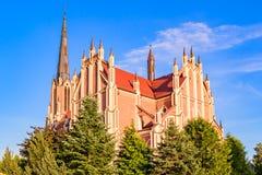 三位一体的雄伟美丽的教会在Gerviaty 免版税库存图片