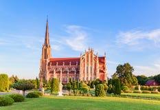 三位一体的雄伟美丽的教会在Gerviaty 库存照片