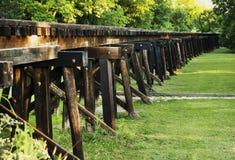 三位一体铁路桥 库存图片