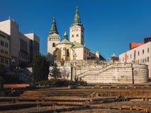 三位一体, Zilina,斯洛伐克的教会 库存图片