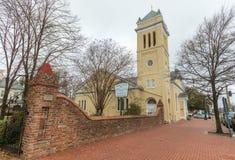 三位一体主教制度的教会在波兹毛斯 免版税库存照片