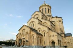 三位一体(Sameba)大教堂的看法 图库摄影