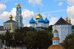 三位一体Sergius Lavra, Sergiev Posad,俄国 联合国科教文组织世界Herit 免版税图库摄影