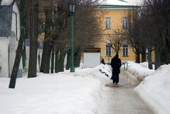三位一体Sergius Lavra 对修士`生存房子的入口门 库存照片