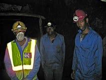 三位卢旺达矿工 免版税库存图片
