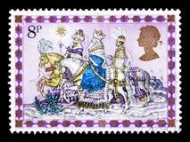 三位国王,圣诞节1979年-诞生场面serie,大约1979年 免版税库存照片
