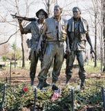 三位战士 库存图片