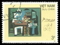 三位音乐家巴勃罗・毕卡索 免版税库存照片