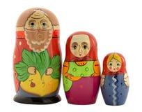 三俄国被筑巢的玩偶 免版税库存图片