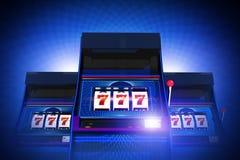 三倍七个赌博娱乐场槽孔 向量例证
