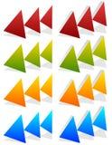 三倍,在更多颜色的3个箭头 位于,快速运送,坚牢度 皇族释放例证