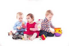 三儿童游戏 库存照片