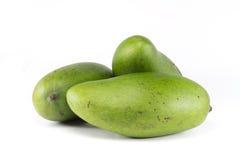 三全部的绿色芒果 免版税库存照片