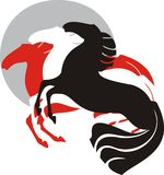 三匹马 免版税图库摄影