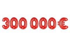 三十万欧元,红颜色 免版税库存照片