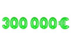 三十万欧元,绿色 免版税库存图片
