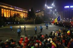 三十万种人抗议 图库摄影