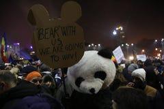 三十万种人抗议 免版税图库摄影