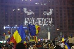 三十万种人抗议 库存照片