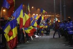 三十万种人抗议 免版税库存照片