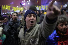 三十万种人抗议 免版税库存图片