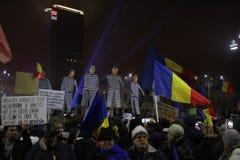 三十万种人抗议 库存图片