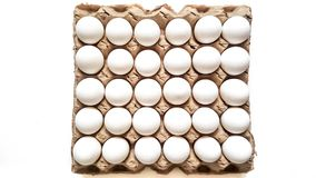 三十个片断鸡蛋格子  库存照片