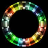 黑洞三原色圆形图数字式伪装设计 库存照片