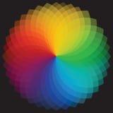 三原色圆形图背景。传染媒介例证 库存照片