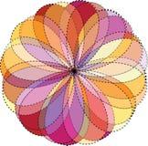 三原色圆形图背景。传染媒介例证 向量例证