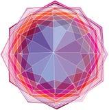 三原色圆形图背景。传染媒介例证 库存例证