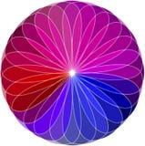 三原色圆形图背景。传染媒介例证 皇族释放例证