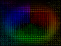 三原色圆形图背景显示着色树荫和颜料 库存图片