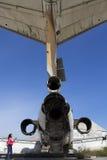 三叉戟太阳喷气机绿线塞浦路斯 库存照片