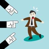 三只手把手指指向商人 免版税图库摄影