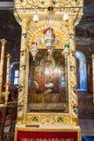 三只手的著名象在特罗扬修道院里在保加利亚 库存照片
