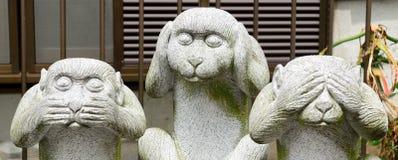 三只明智的猴子,东京,日本 免版税库存照片